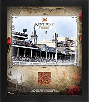 """Kentucky Derby Framed 15"""" x 17"""" Collage with Race-Used Dirt - Fanatics Authentic Certified - Horse Racing Plaques, and Collages"""