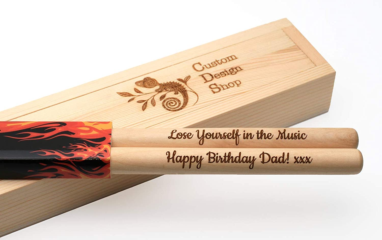 maple wood Personalized drum sticks 5A Custom Bespoke Gift optional gift box