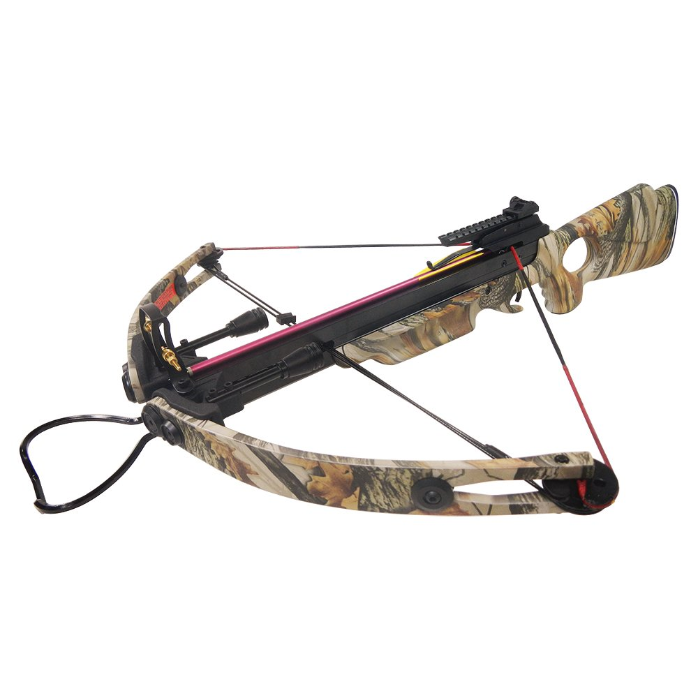 150 lb God's Country Late Season Camouflage Camo Hunting Compound Crossbow Archery Bow +Rail Lube +8 Bolts / Arrows 175