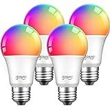 Alexa Smart Light Bulbs, Gosund 75W Equivalent E26 8W WiFi Led Bulb A19 RGB Color Changing Light Bulb Dimmable, Work with Goo
