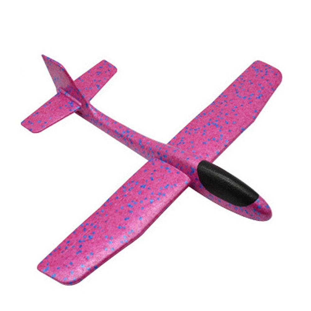 (Pink) - AOLVO Foam Aeroplane Gliders, Throwing Glider Inertia Plane Foam Aircraft Toy Outdoor Sports -Fun Gift, Party Favours, Party Toys, Goody Bag Favours, Carnival Prizes, Pinata Filler B07B8KSLT5 ピンク