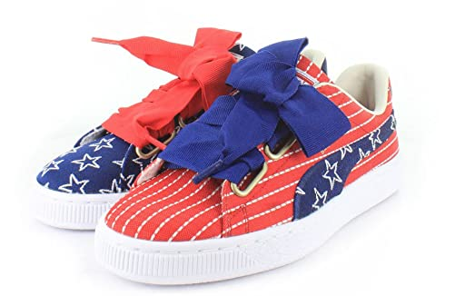 puma basket heart red