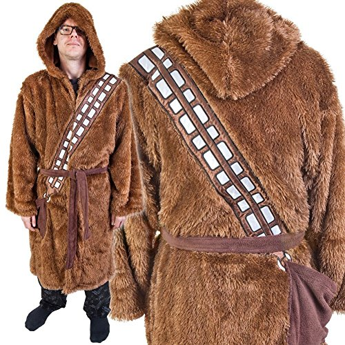Star Wars Star Wars Chewbacca Adult Fleece Bathrobe, brown, one size fits most