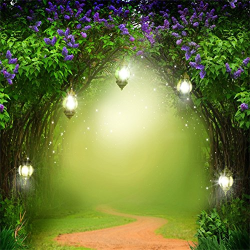 OFILA Seamless Fairy Forest Backdrop 10x10ft Magic Trees Elf Enchanted Garden Theme Baby Shower Party Kids Fantasy Wonderland Birthday Photos Little Girls Princess Portraits Toddlers Shoots Video -
