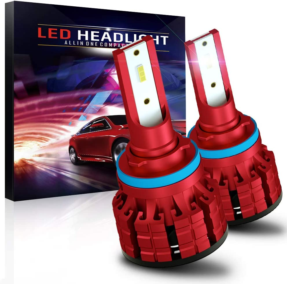 H11 Led Headlight Bulb,60W 10800LM CSP Chips High Bright 6000K Conversion Kit