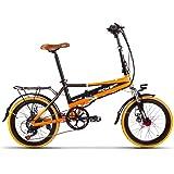 Eléctrica Plegable bicicleta de ciudad Hombres/Damas Bicicleta Bicicleta De Carretera RT700 250W*48V*8Ah 20inch doble suspensión 7Speed desviador Shimano LG recargable Cell radios de doble disco de freno