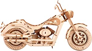 3D Wooden Puzzle for Adults Harley Motorcycle for Boyfriend,Kids,Husband,Christmas,Birthday Gift Model Assembly Wooden Craft Home Decors Adult Craft Kits Cool Wooden Model Kit Home Decoration
