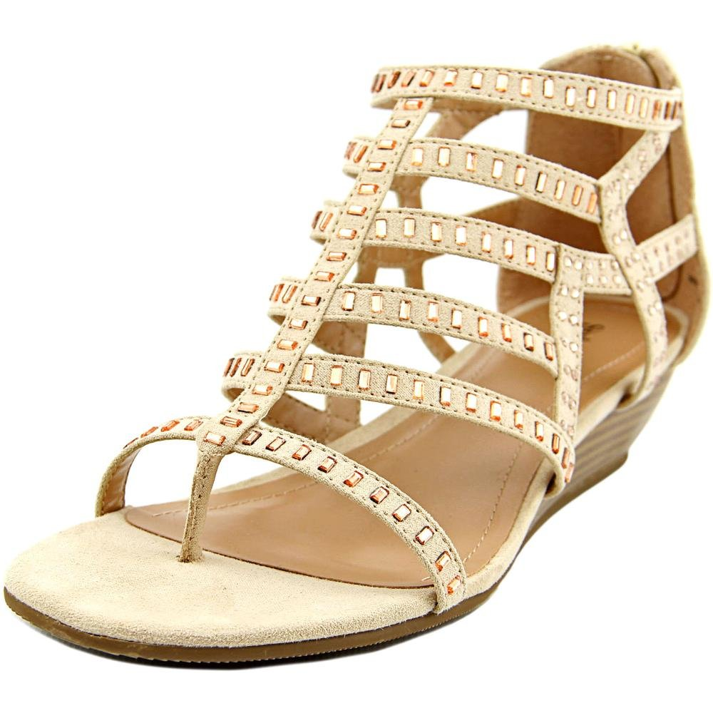 Style & Co. Womens Bradey Square Toe Casual Platform, Sandy Beige, Size 6.0