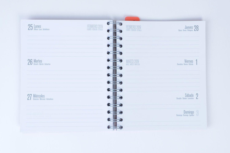 Grupo Erik Editores - Agenda escolar New York 2018/2019 Semana vista, 15,5 x 19 cm