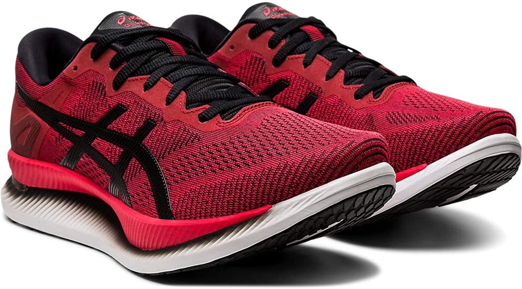 ASICS Mens GlideRide Running Shoes, 8M, Speed RED/Black: Amazon ...