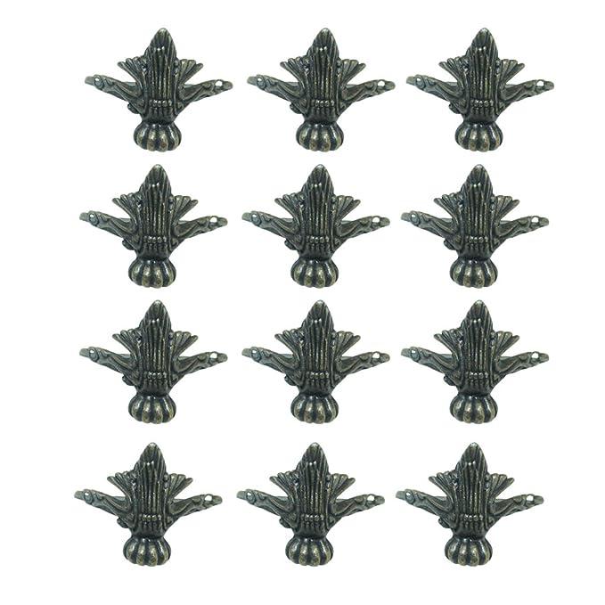 con tornillos Pies decorativos de estilo vintage para esquinas de Zedtom 4 unidades ideales para joyeros