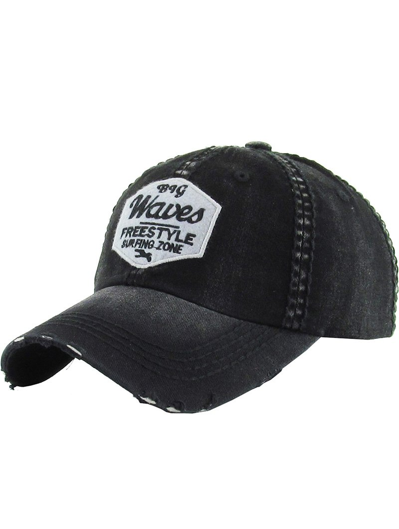 RI001 BIG WAVES DISTRESSED AND FADED HAT AND CAP
