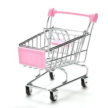 topxome Mini Supermercado carritos de mano Mini carrito de la compra, decoración de escritorio soporte