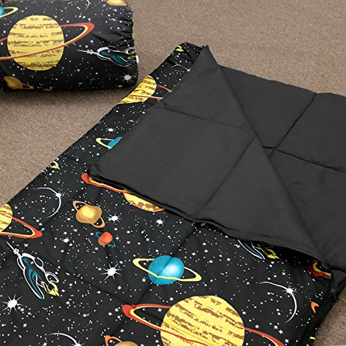 Veratex Glow in the Dark Galaxy Glow Sleep Over Bag Black - Galaxy Mountain Sleeping Bag