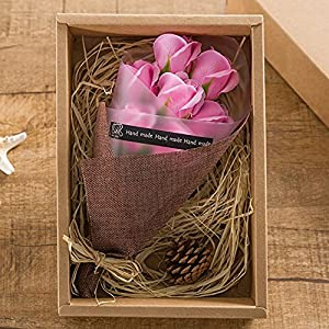 Artificial Red Roses in a Gift Box - Scented Rose Petals Gifts For Her (Pink) 2