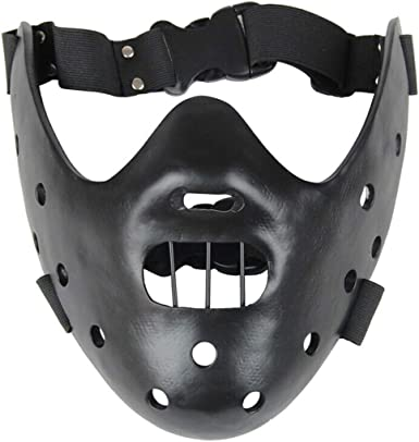 Amazon Com Hannibal Lecter Mask Cosplay The Silence Of The Lambs Half Face Killer Prop Resin Black Clothing I don't know the specific name of this type of mask, but it is also. hannibal lecter mask cosplay the silence of the lambs half face killer prop resin