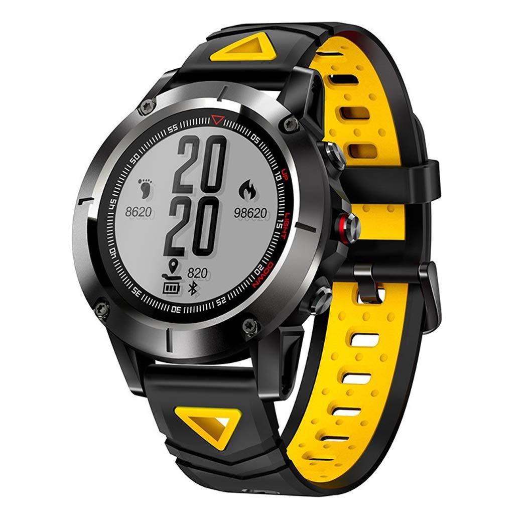 Le jaune  LXFMD Bracelet Intelligent de Montre de Bracelet de Montre imperméable de Sports de Plein air de Surveillance de Bracelet de Montre de Montre