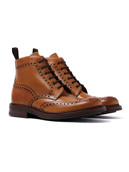 9c1f76a525f Mens Loake Brogue Lace Up Boots Bedale