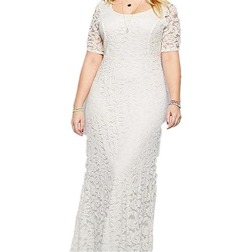 Janlyy Womens Wedding Evening Party Full Lace Maxi Dress