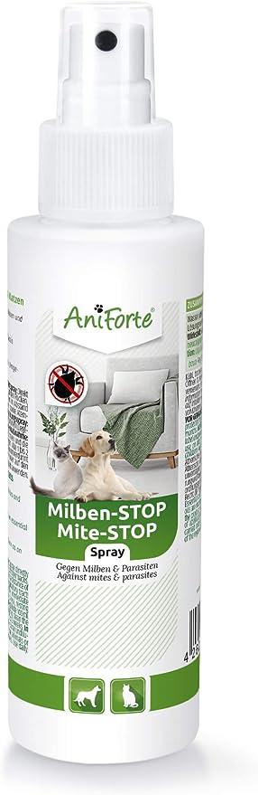 AniForte Spray antiácaros para Perros y Gatos 100 ml - Spray antiácaros para una Defensa eficaz contra Insectos y parásitos. Protección contra infestación de ácaros: Amazon.es: Productos para mascotas