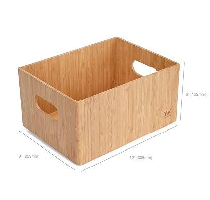 Merveilleux MobileVision Bamboo Storage Box, 9u201dx12u201dx 6u201d, Durable Bin W