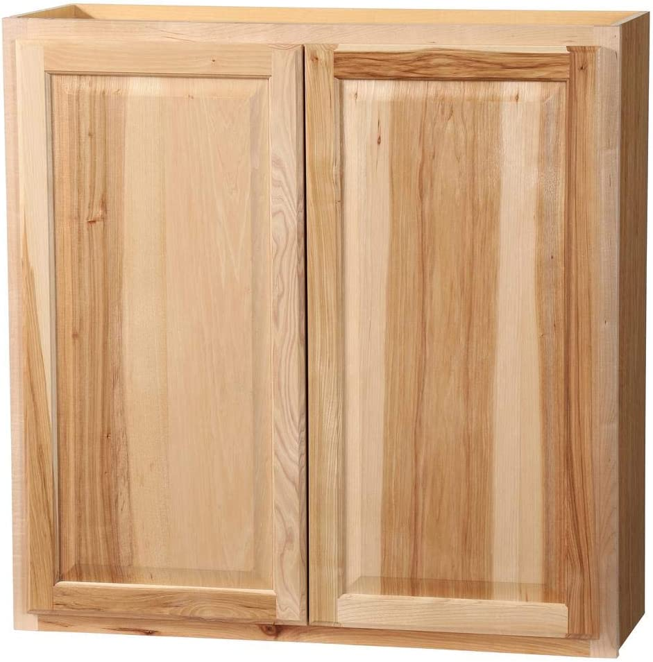 Amazon Com 36x36x12 In Hampton Wall Cabinet In Natural Hickory Kitchen Dining