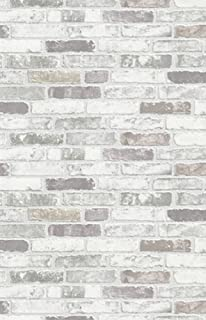NEW LUXURY ERISMANN BRIX GREY BRICK WALL EFFECT EMBOSSED TEXTURED VINYL WALLPAPER 6703 10