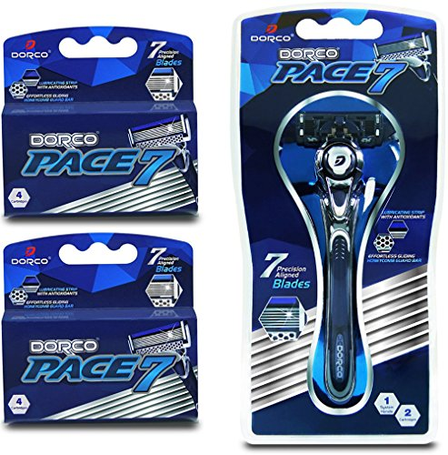Dorco Pace 7 - World's First and Only Seven Blade Razor System-...