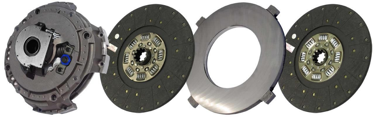 IATCO 108391-83-IAT 15-1/2'' x 2'' Easy Pedal Clutch (Two-Plate, Organic / 8-Spring, 3200 Plate Load / 1070 Torque, Triple-Zerk) by IATCO (Image #1)
