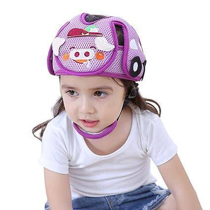 Casco de seguridad para bebés,yunt casco ajustable anti-colisión para niños Casco protector