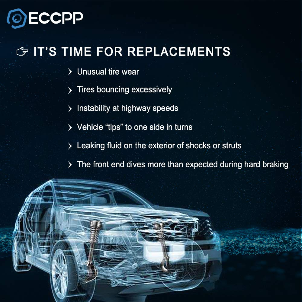 ECCPP Complete Struts Spring Assembly Front Struts Shock Absorber Fit for 2007-2009 Hyundai Santa Fe Set of 2
