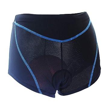 Lixada Mujeres Ciclismo Cortos 3D Acolchado Bicicleta Ciclismo Ropa Interior Transpirable Ligero Pantalones Cortos de Bicicleta