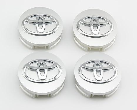 Ángel Mall Toyota 62 mm diámetro exterior color plateado rueda centro tapacubos cubierta 4-pc