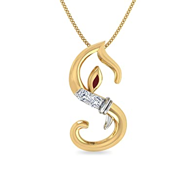 Buy PC Jeweller The Initial S Ganesha 18KT Yellow Gold and Diamond