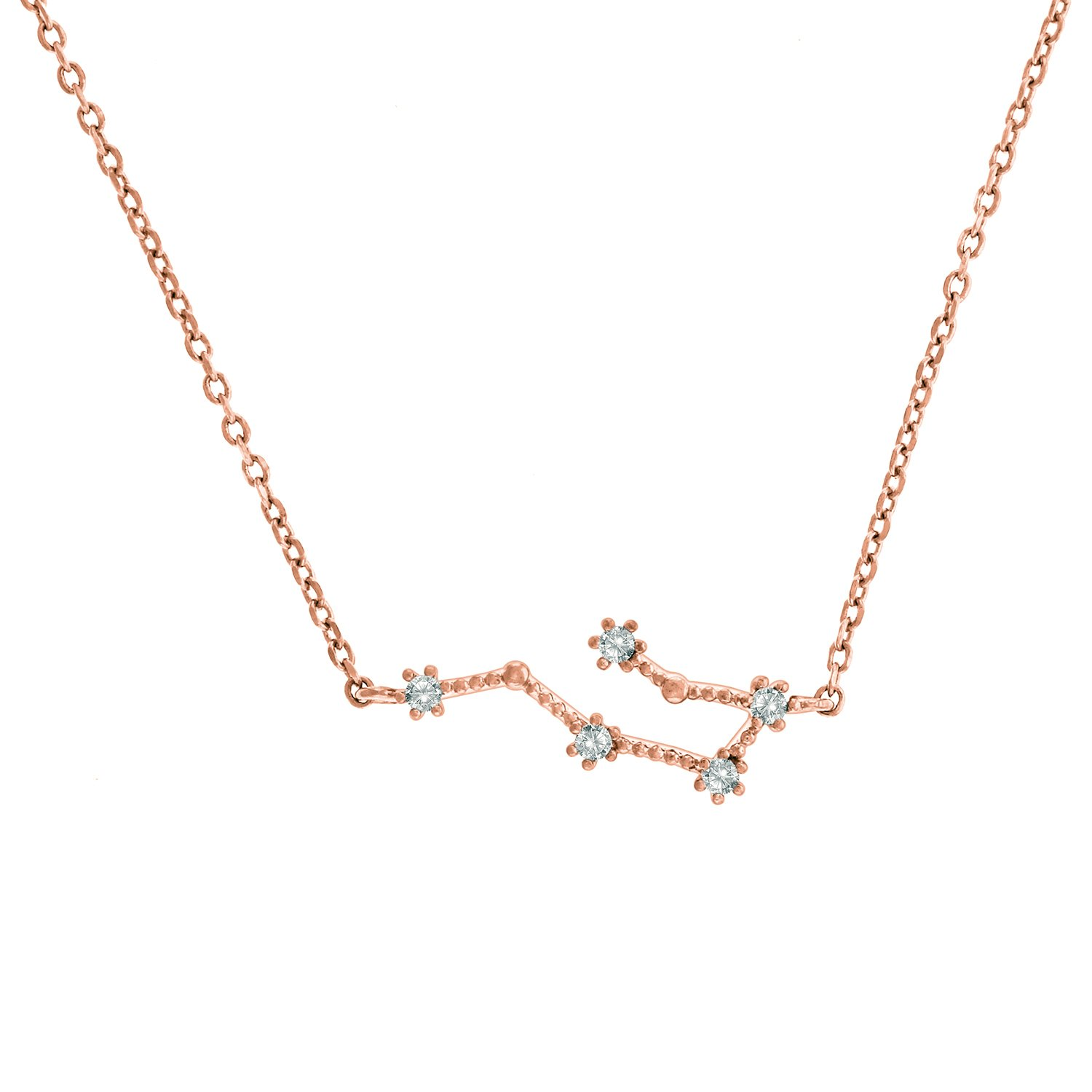 b68a21d4f0bd Amazon.com  PAVOI 14K Rose Gold Plated Astrology Constellation Horoscope  Zodiac Necklace 16-18