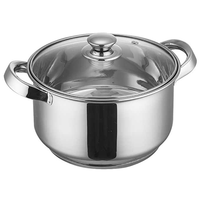 Krome Stainless Steel Classic Casserole With Lid 16 Cm by Jindal Stainless