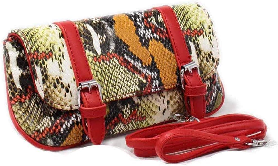 Tom/&Eva Pochette femme motif serpent petit sac /à main bandouli/ère