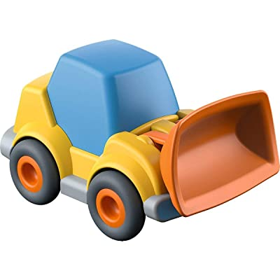 HABA Kullerbu Wheel Loader with Momentum Motor and 2 Tipping Positions - Can be Enjoyed with or Without The Kullerbu Track System - Ages 2+: Toys & Games