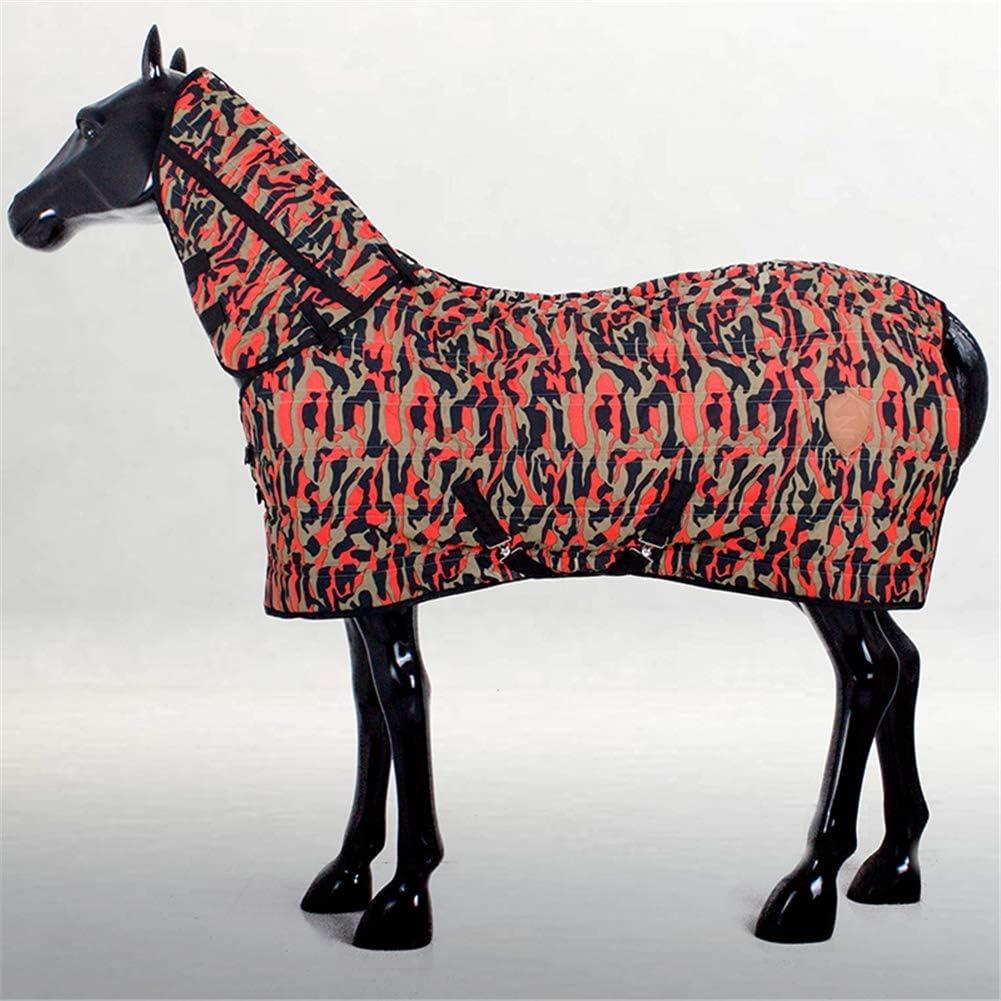 1200D Manta Para Caballo Con Diseño Manta De Caballo Camuflaje Resistente Al Desgarro De Algodón 350G Invierno Impermeable Sábana Caliente Pony Alfombra Turnout Manta Montar A Caballo Mostrar