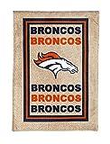 NFL Denver Broncos LE Logo Burlap Garden Flag, Medium, Multicolor