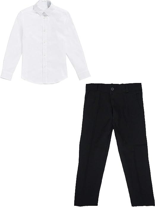 black & white Basic - Camisa y pantalón para niños (4 años / 110 ...