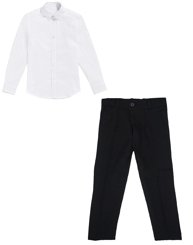 black & white Basic - Camisa y pantalón para niños (8 años / 128 ...