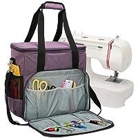 Millster Bolsa de máquina de coser,   Bolsa de transporte y almacenamiento estable en muchos colores frescos, para todas las protecciones populares de bolsas de manija de máquinas de coser sturdy