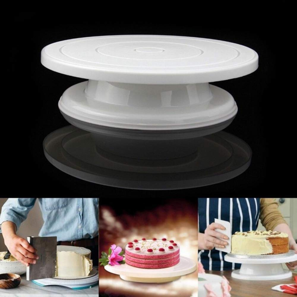 Weehey Torta di plastica Giradischi Non Scivolare Fondo Rotante Girevole Basamento di Decorazione Stand per 10 Pollici Torta Stampo Strumenti Sugarcraft Cottura Fornitore