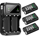 Xbox One Controller Battery Pack, BEBONCOOL 3-Pack 2200mAh Xbox One Controller Rechargeable Battery Packs and Charger Accessory Kit, Xbox Battery for Xbox One/One X/One Elite/One S Controllers