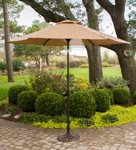 - Hanover P MONACOUMB Tiltable Monaco Furniture Collection, 9-Feet Outdoor Umbrella, Porcelain