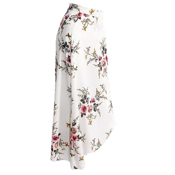 41fc06150801 Segolike Womens High Waisted Floral Slit Skirts Ladies Summer Long Maxi  Skirt Dresses - white