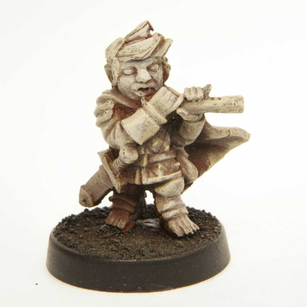 Stonehaven Halfling Fife Player Miniature Figure Made in USA Stonehaven Miniatures for 28mm Scale Table Top War Games