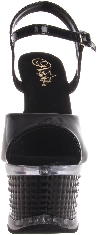 Pleaser Women's Illusion 659/B/M Sandal B0038B0BOS 9 B(M) US|Black Patent
