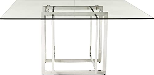 Creative Images International Neo Collection Square Glass Top Dining Table